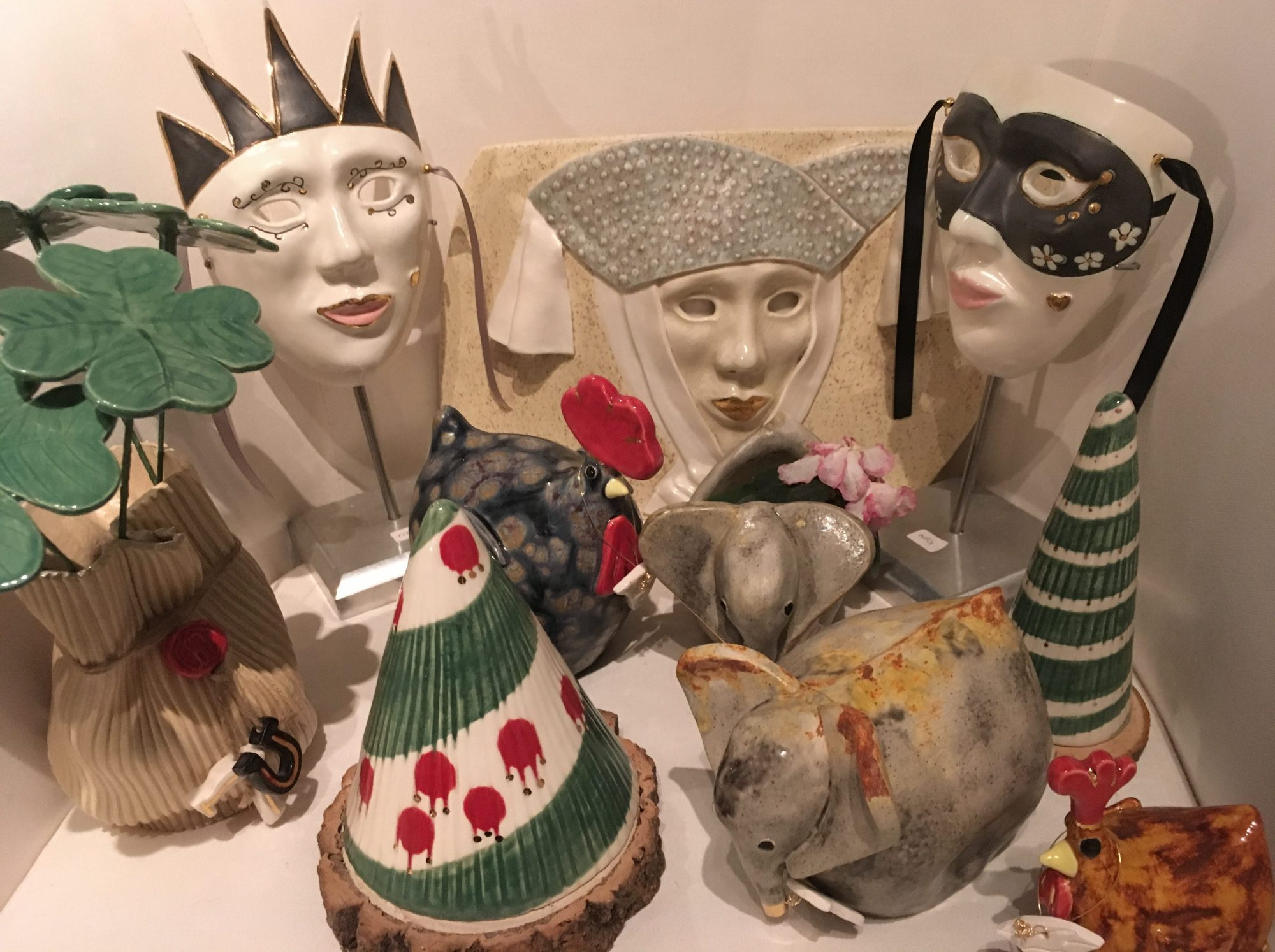 Cloaked In Clay - Handmade Ceramics with Precious Metals, Animal Sculptures and Fused Glass Art