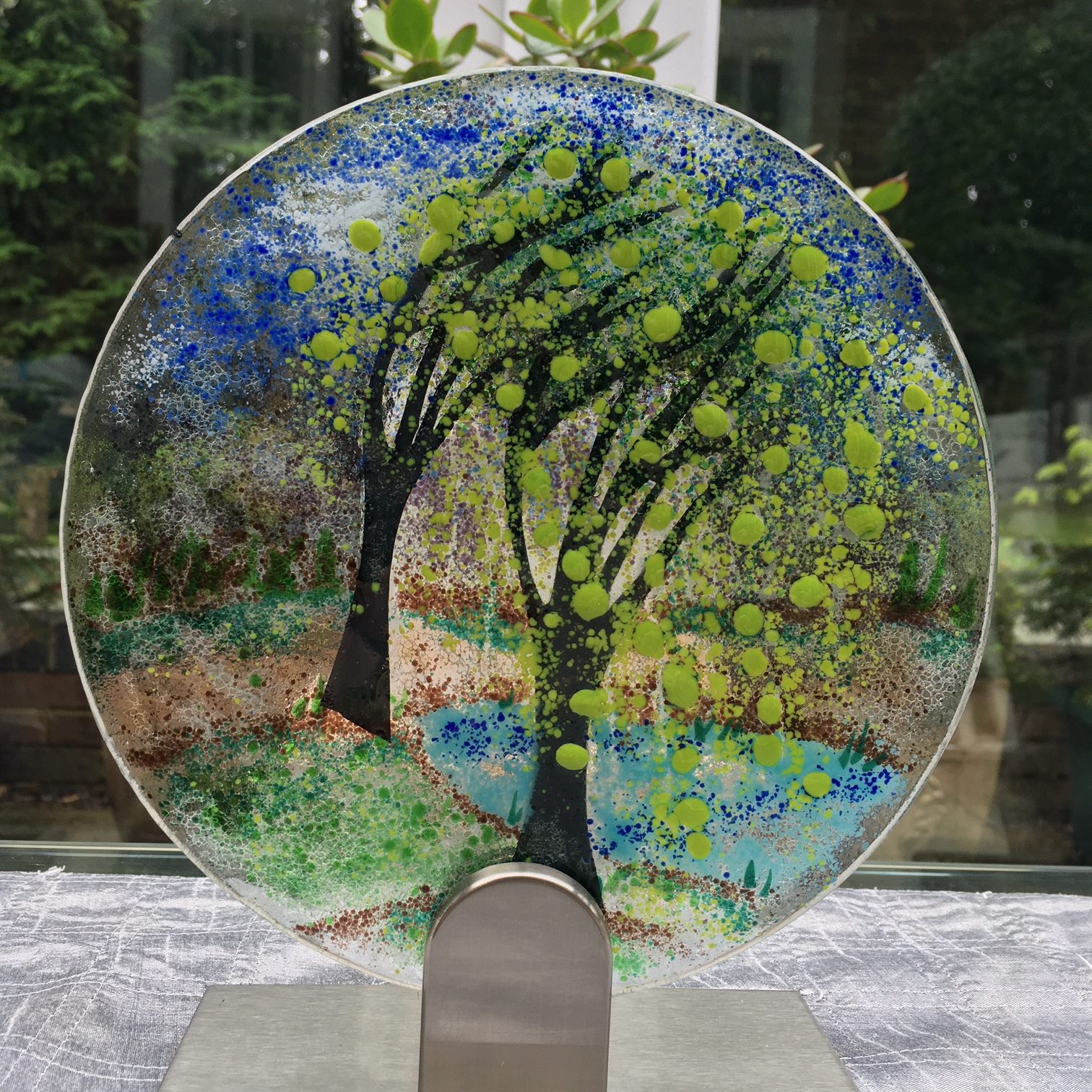 Weeping Willows Fused Glass