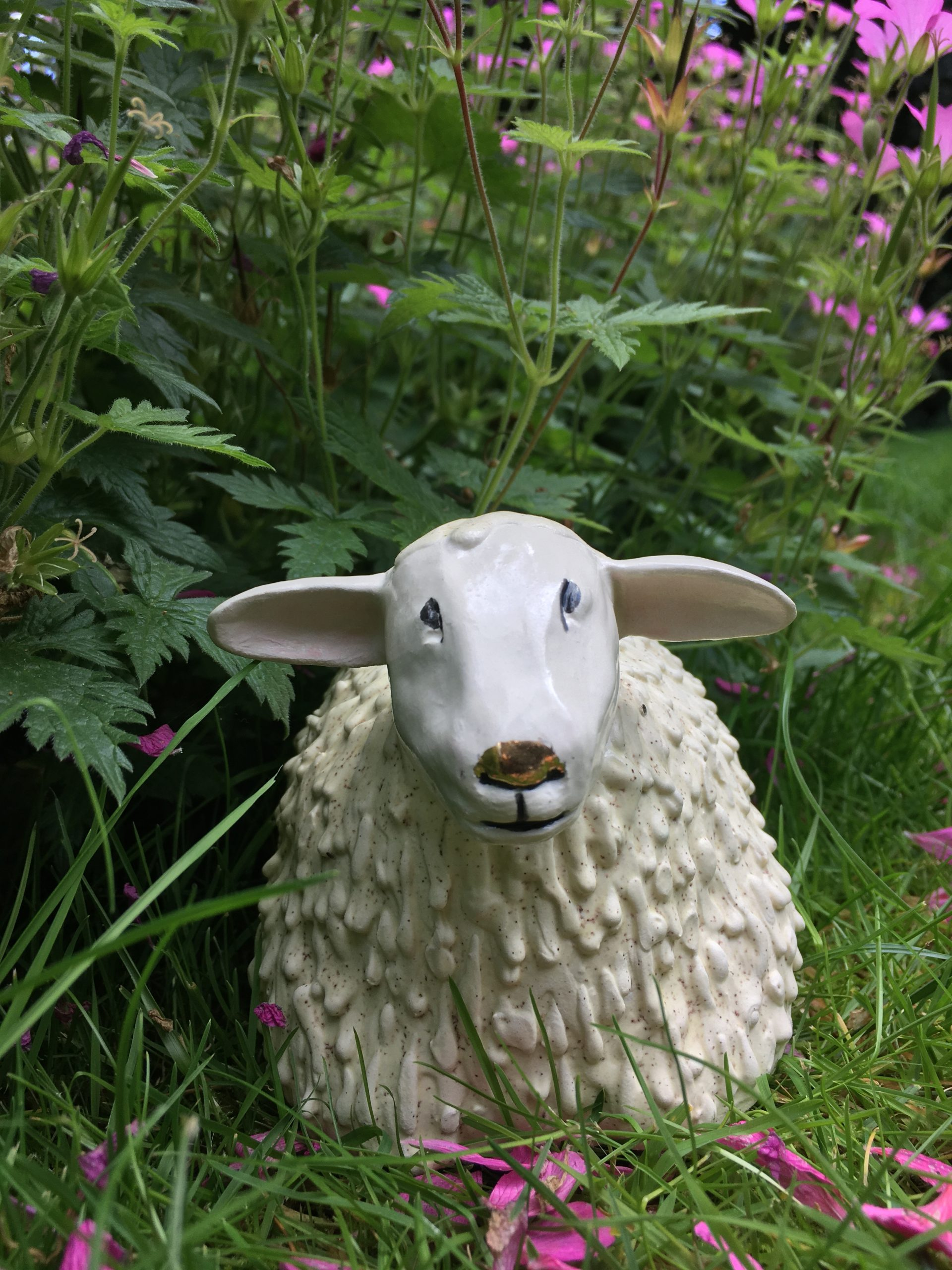 Ceramic Chubby Sheep